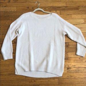 Loft ivory sweater sz L